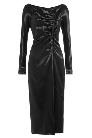 Satin Dress with Gathered Detail Gr. US 4