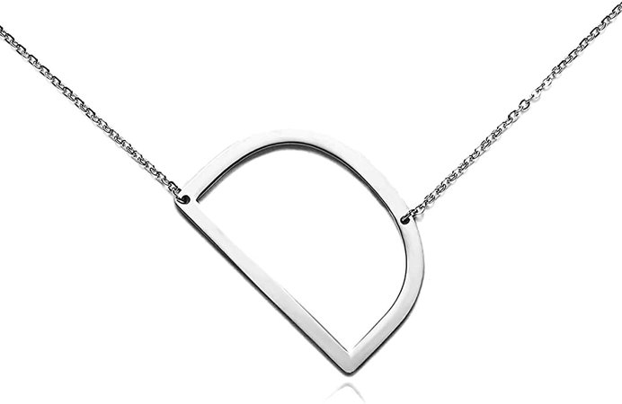 Amazon.com: RINHOO Stainless Steel Gold Initial Alphabet 26 Letters Script Name Pendant Chain Necklace from A-Z (A): Jewelry