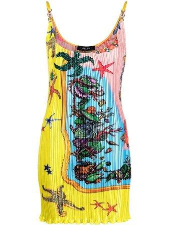 Versace Trésor De La Mer Print mini-dress - Farfetch