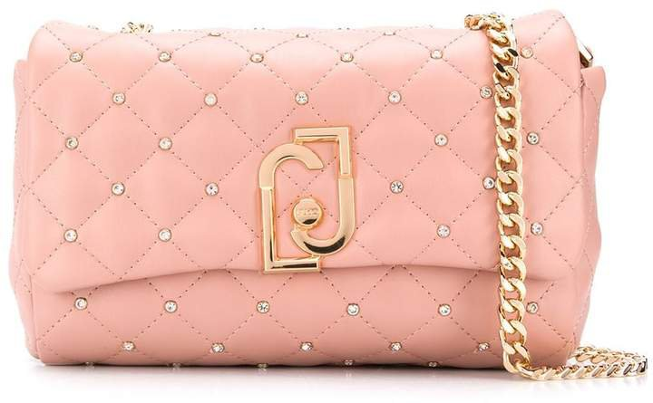 quilted logo cross-body bag