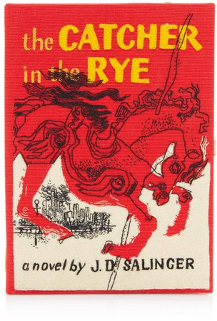 Olympia Le-Tan The Catcher In The Rye Embroidered Canvas Book Clutch