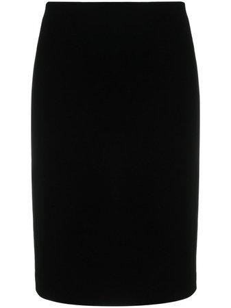 Saint Laurent high-waisted silk skirt - FARFETCH
