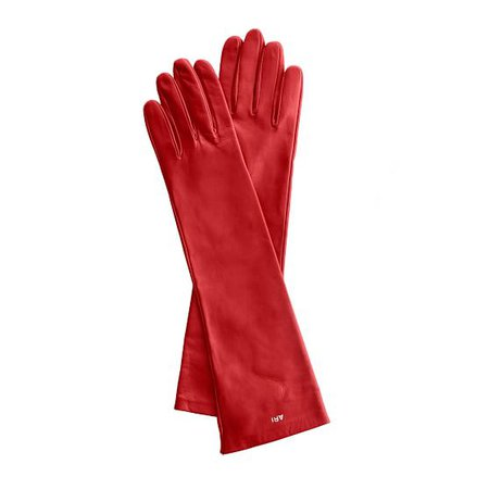 Women's Italian Leather Opera Glove, Size 6.5, Extra-Small, Red | Mark and Graham