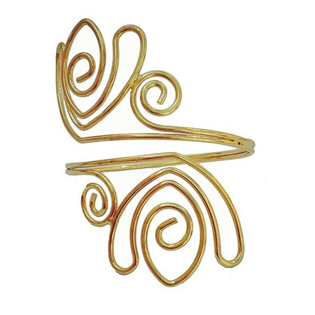 Amazon.com: OCTCHOCO Fashion Flower Metal Curve Gold Silver Filigree Swirl Adjustable Arm Bracelets Bangle Upper Arm Cuff Armlet (Gold): Clothing