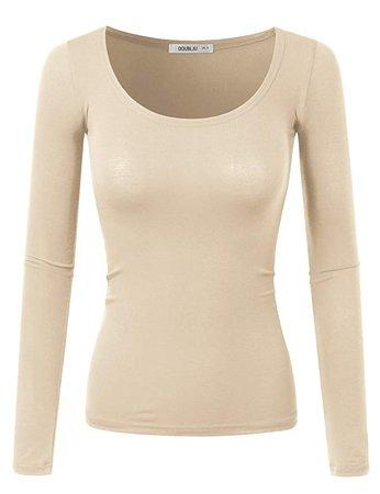 Taupe/Beige Long-Sleeve Shirt