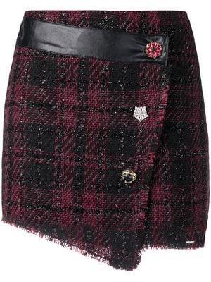 LIU JO embellished button skirt