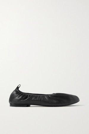 Elly Leather Ballet Flats - Black