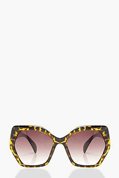 Lily Tortoiseshell Oversized Sunglasses