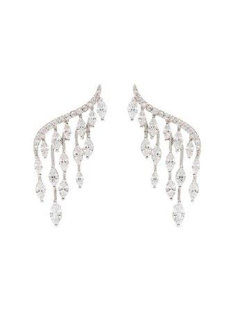 Apples & Figs Marquise Embellished Earrings 01EARMARQUISE Metallic   Farfetch