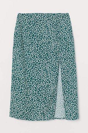 High-split Skirt - Green