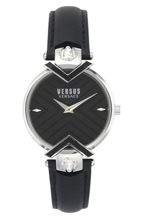 VERSUS Versace Mabillon Leather Strap Watch, 36mm | Nordstrom