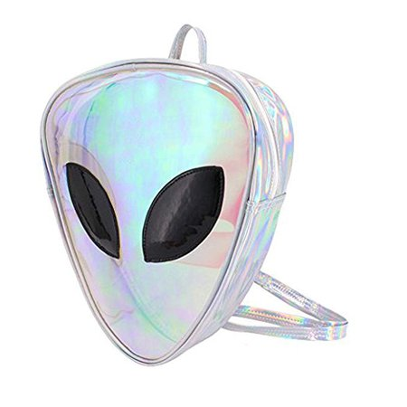 Amazon.com | Aibearty Alien Backpack Holographic Triangle Rucksack Casual Bag | Casual Daypacks