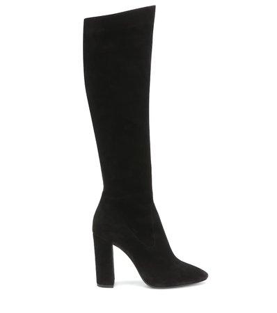 Saint Laurent Lou 105 Suede Knee-High Boots