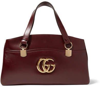 Arli Leather Shoulder Bag - Burgundy