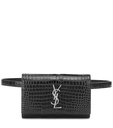 Kate croc-effect leather belt bag