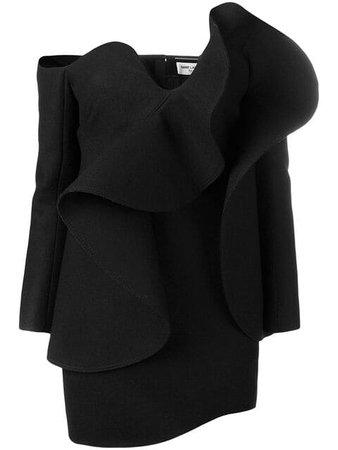 Saint Laurent off-the-shoulder Mini Dress - Farfetch
