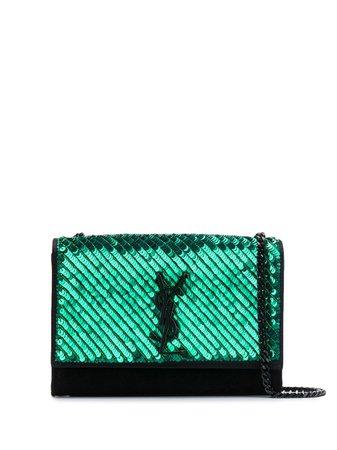 Saint Laurent Kate Sequin-Embellished Shoulder Bag 471286KL9B8 Black | Farfetch