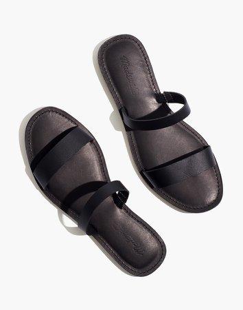The Boardwalk Double-Strap Slide Sandal in Leather