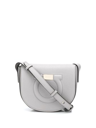 Salvatore Ferragamo Embossed Gancini Logo Crossbody Bag - Farfetch