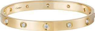Cartier LOVE Gold and Diamond Bracelet