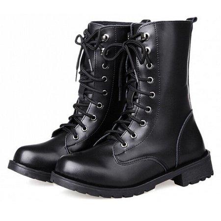 black combat shoes boots