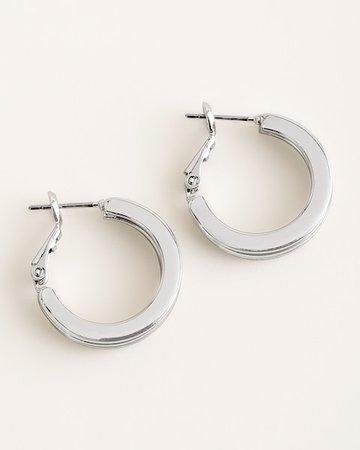 Sleek Silver-Tone Hoop Earrings - Women's Earrings - Women's Jewelry - Chico's