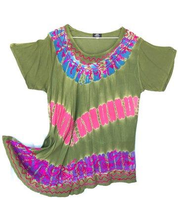 Blusa batik verde seco