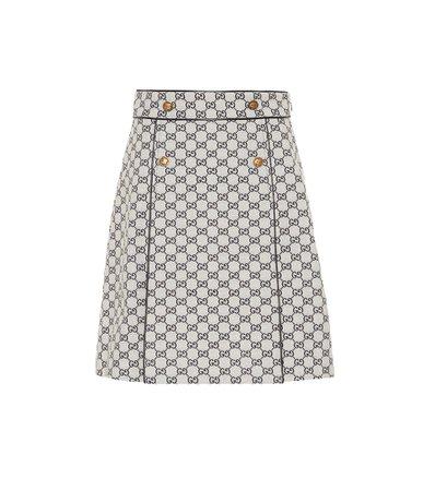 Gg Cotton-Blend Skirt   Gucci - mytheresa.com