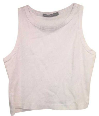 Brandy Melville White Tank Top/Cami Size OS (one size) - Tradesy