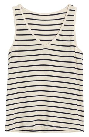 Madewell Tomboy V-Neck Tank Top | white