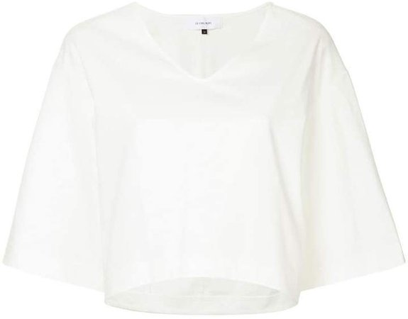 cropped flared T-shirt