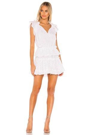 MISA Los Angeles Lilian Dress in White | REVOLVE
