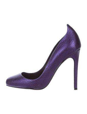 Jerome C. Rousseau Leather Square-Toe Pumps - Shoes - JRM20920   The RealReal