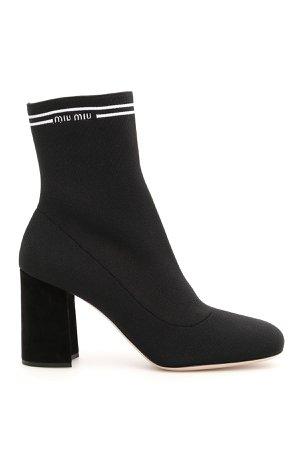 Miu Miu Knit Logo Boots