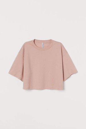 Cropped T-shirt - Orange