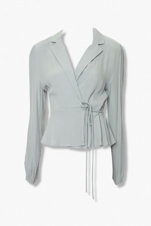 Collared Wrap Top   Forever 21