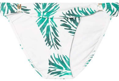Aloe Bia Printed Bikini Briefs - Green