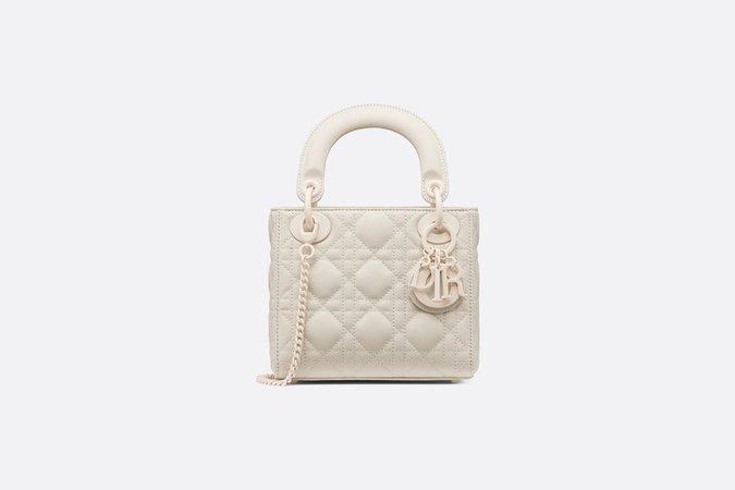 Mini Lady Dior Bag Latte Ultramatte Cannage Calfskin - Bags - Women's Fashion | DIOR