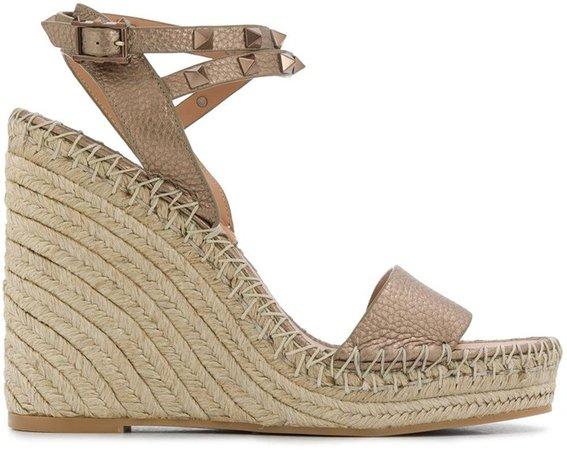Rockstud Espadrille Wedge Sandals
