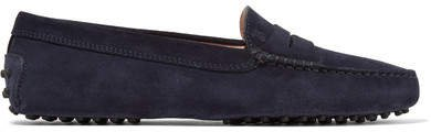 Gommino Suede Loafers - Navy