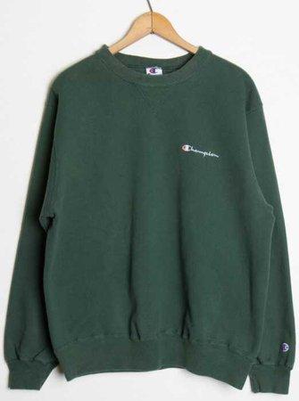 champion sweatshirt green dark emerald forest hoodie shirt