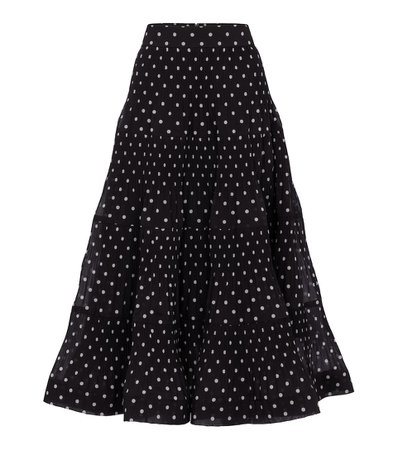 Zimmermann - Polka-dot pleated midi skirt | Mytheresa