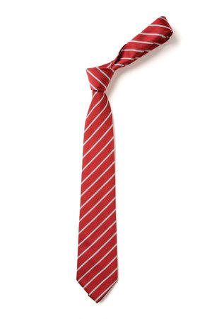 striped red tie -