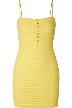 ViX | Sunkisses ribbed stretch-jersey mini dress | NET-A-PORTER.COM