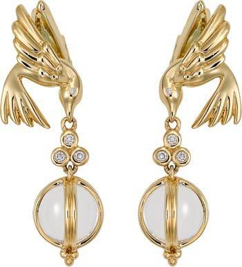 Temple St. Clair Crystal & Diamond Bird Drop Earrings | Nordstrom