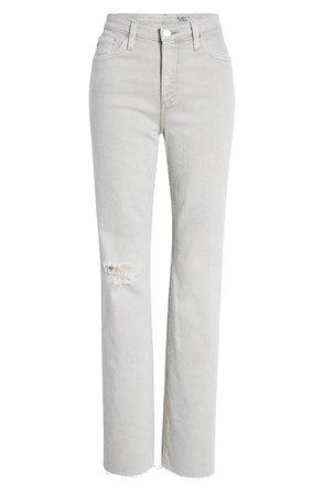 AG Alexxis High Waist Straight Leg Jeans (Earth Pigment Light Sterling) | Nordstrom
