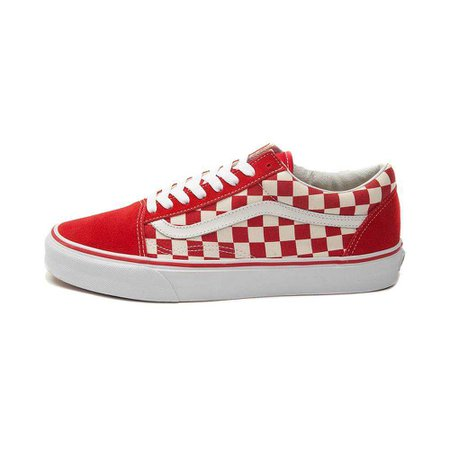 red and white check vans