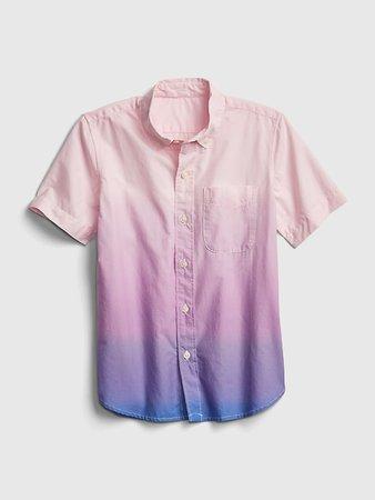 Kids Dip-Dye Poplin Shirt | Gap