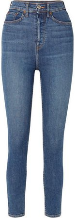 Originals Ultra High-rise Ankle Crop Skinny Jeans - Mid denim