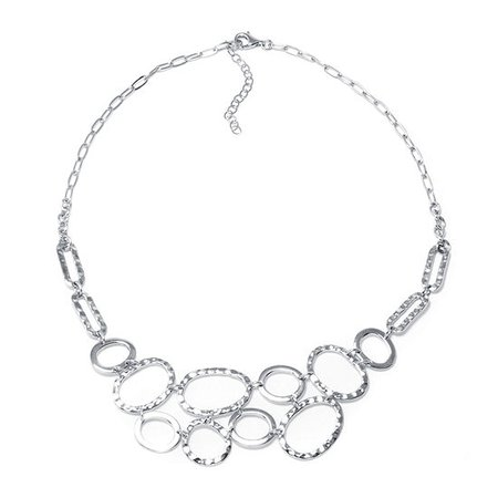 Sterling Silver Multi-Circle Necklace - JCPenney